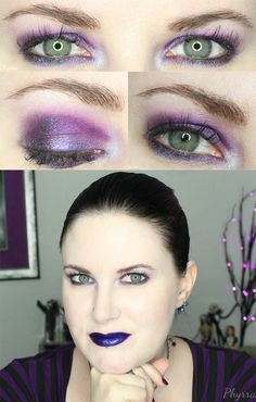 Phyrra brings you a Bright Purple Eyeshadow Tutorial, great for hooded eyes! Check out this quick and easy makeup look.