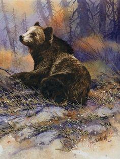 Joe Garcia WATERCOLOR Grizzly