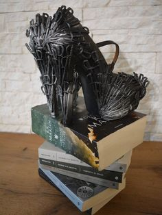 Custom Heels - Game of Thrones inspired - Iron Throne shoes