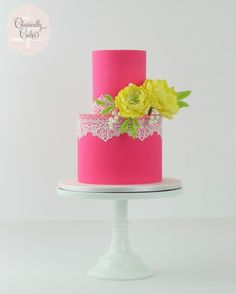 Pink Peonies and Lace by Classically Cakes