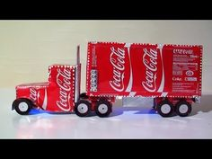 How to make a Coca-Cola semi-truck out of Coke cans. COOL!