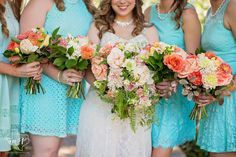 flowers by the blooming bride#peach wedding#  Fresh, pretty and rustic for the ultimate Texas bride.