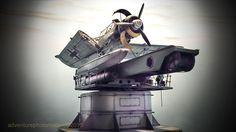 Arado ar196 a3 revell kit 1:32 scale model & hph ship's catapult kit 1:32 scale model