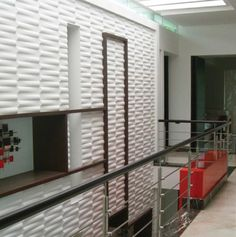 3D Wall tile from bamboo pulp by Wovin Wall