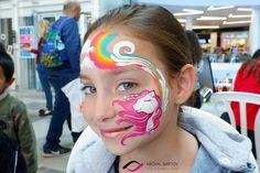 unicorn face painting- ציור פנים חד קרן עם קשת בענן Unicorn Face, Carnival, Painting, Carnavals, Painting Art, Carnivals, Paintings, Painted Canvas, Drawings