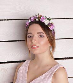 Lavender flower crown Lilac Flower Headband от MEELLAofficial