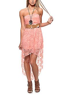 rue21 : Dresses-- this lovely high low dress paired with gladiator sandals is totes adorbz