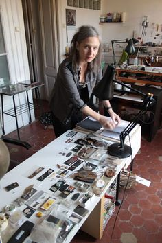 Judy Mc Caig - I love this woman's work and the images of her studio, where she has countless artworks in process puts my mind to ease about the creative clutter of my own studio. Definitely visit this link because it is so inspiring...