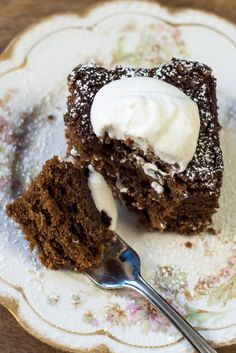 Mom's Old-Fashioned Gingerbread | From Valerie's Kitchen - A sweet and simple holiday classic from my mom's recipe binder.