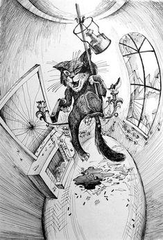 Бегемот на люстре. Рисунки Василия Яшкевича