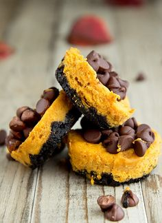 Pumpkin Brownie Cheesecakes. YUM.