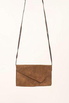 vintage suede envelope purse.. love vintage =)