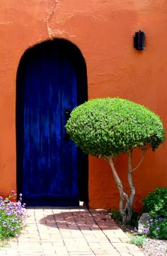 Your front door is the first thing you see when you get home. It's also the exterior element of your home you mostly interact with. So why not make it a unique front door? Unique Front Doors, When One Door Closes, Cool Doors, Door Gate, Land Of Enchantment, Closed Doors, Door Knockers, Doorway, Windows And Doors