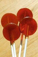 Make honey cough drop lollipops for coughing kids.