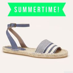 """LOFT Striped Espadrilles Nothing says summer more than this pair of striped espadrilles from Loft! An adjustable ankle strap and 1/2"""" platform makes them comfortable to wear all day. Please not that they are a size 9 but run small. They would be best for an 8 1/2 or someone with a narrow foot. Brand new in package. Please ask questions before purchase as all sales are final. LOFT Shoes Sandals"""