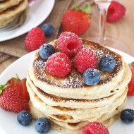 Champagne Pancakes with Berries
