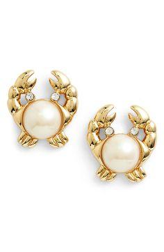 Summer Fashion | Kate Spade 'shore thing' crab stud earrings.
