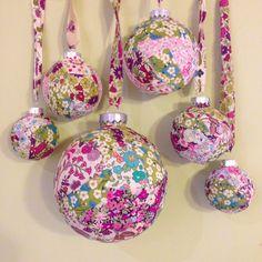 Liberty Christmas baubles
