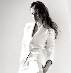 Nothing like a white lauren suit... and little else.