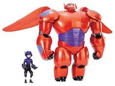 Disney's Big Hero 6 Deluxe Flying Baymax w/ Hiro Action Figures. Big Hero 6 11 Deluxe Flying Baymax with Hiro Action Figures. Big Hero 6, Big Hero Baymax, Gogo Tomago, Hiro Hamada, Disney Movies, Disney Characters, Disney Fun, Pokemon, New Toys