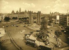 Barcelona, Arc del Triomf i Palu de la justícia 1930.