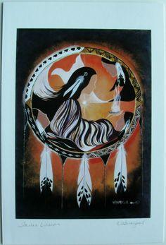 $6.99 Native Fine Art Card Blank, Inner Vision by Wabimeguil (Betty Albert-Lincez) | eBay