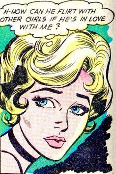 Vintage romance comic