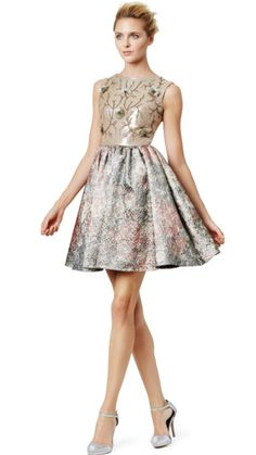 OBSESSED with this Marchesa Notte number!  Perfect dress to be noticed without stealing the spotlight.  Exquisite couture details!