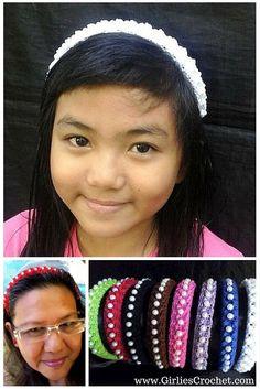 Free Crochet Pattern: Pearly Pop 94 Headband