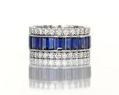 Leverington Handmade Ladies Platinum, Sapphire