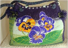 Felted Purse Felted Tote Felted Handbag Large by FeltedFantasies, $305.00