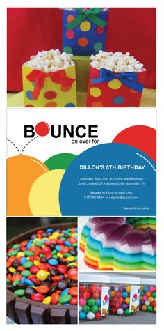 Bouncing Fun Birthday Party Invitations