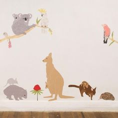 I love this! Wall Decals Australian Animals Reusable and by lovemaestore, $75.00