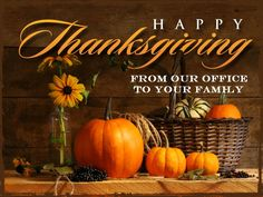 Happy Thanksgiving from our office! Kraska Center for Cosmetic and General Dentistry Greensboro, NC 27403