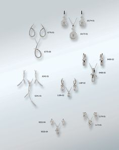 Designs by Rego diamond earring and matching pendant sets
