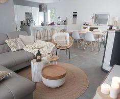 36 Fabulous Modern Scandinavian Living Room Decor Ideas - New ideas Living Dining Room, Home N Decor, Living Room Scandinavian, Home And Living, Apartment Living Room, Home Decor, House Interior, Room Decor, Apartment Decor