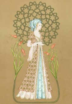 Kadın; bilmeyene 'nefs', bilene 'nefes'tir..! [Şems-i Tebrizi] Illustrations, Illustration Art, Islamic Paintings, Islamic Patterns, Turkish Art, Letter Art, Love Painting, Mandala Design, Islamic Art