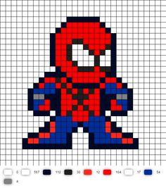 Ben Reilly Spider-Man Perler Bead Pattern