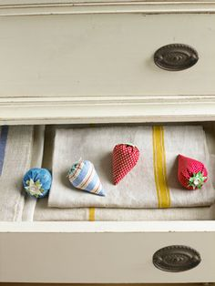 Sew your own patch of lavender-filled pouches, using old fabric scraps and buttons.