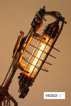 Steampunk lamp, handmade