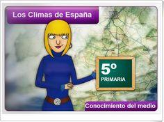 """Unidad 5 de Ciencias Sociales de 5º de Primaria: """"Los climas y la hidrografía de España"""""""