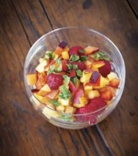 Stone Fruit Salad with Fresh Sugared Mint