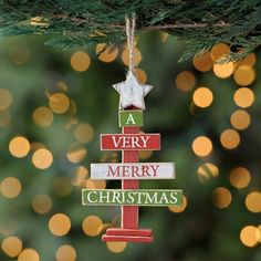 A Very Merry Christmas Sign Ornament | Kirklands   $5.99