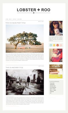 My favourite kind of blog design. White space, beautiful font, simple.