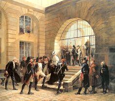 Marie-Antoinette quitte la Conciergerie pour l'échafaud, par Georges Cain