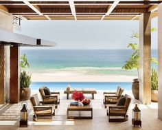 Beach Outdoor Space by Terry Hunziker Inc. and Olson Kundig Architects in Los Cabos, Mexico