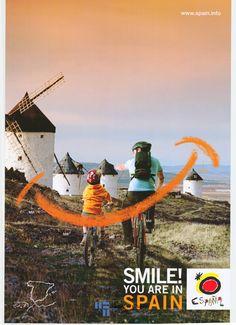 #Cartel de #turismo con molinos en Castilla La Mancha del año 2005 / #Spain España #tourism #travel #viajar