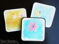 Newton's Nook Designs: Beautiful Blossoms Watercolor Cards by Yukari Yosh...