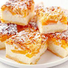 Sernik z brzoskwiniami Nom Nom, Cheesecake, Sweets, Baking, Food, Fitness, Recipes, Food And Drinks, Gummi Candy