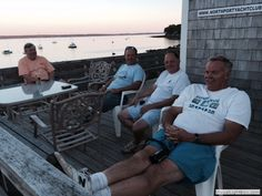 2015-05-01 The Boys, photographed by Don Webster and featuring George Allen, Billy Haverty, John Lojek, and Gordon Fuller enjoying a beautiful evening in September.
